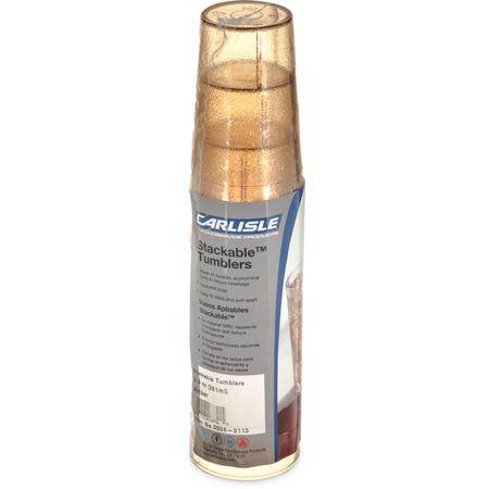 5506-8113 - Stackable™ SAN Tumbler 9.5 oz - Cash & Carry (6/pk) - Amber
