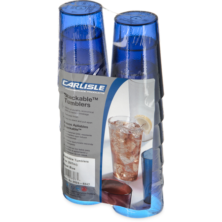5526-8247 - Stackable™ SAN Tumbler 8 oz (12/pk) - Royal Blue