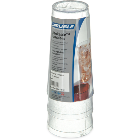 5232-8107 - Stackable™ SAN Tumbler 32 oz - Cash & Carry (3/pk) - Clear