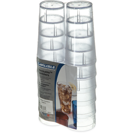 5216-8207 - Stackable™ Cash 'n Carry SAN Tumbler 16 oz (12/pk) - Clear