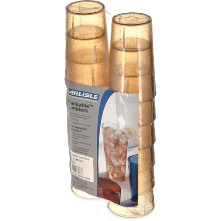 5506-8213 - Stackable™ SAN Tumbler 9.5 oz (12/pk) - Amber
