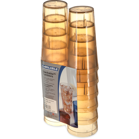 5220-8213 - Stackable™ SAN Tumbler 20 oz (12/pk) - Amber
