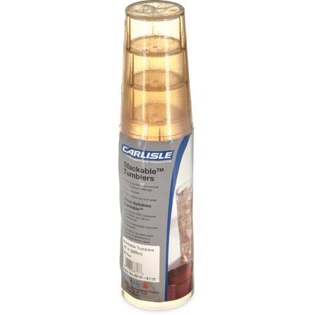 5212-8113 - Stackable™ SAN Tumbler 12 oz - Cash & Carry (6/pk) - Amber