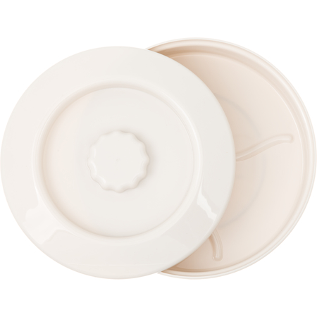 "047542 - Tortilla Server w/Lid 7-1/4"" / 1-15/16"" - Bone"