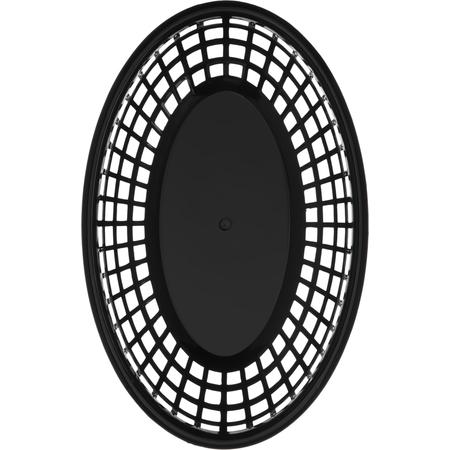 "033303 - Bread And Bun Basket Oval Basket 9-1/4"" x 6"" - Black"