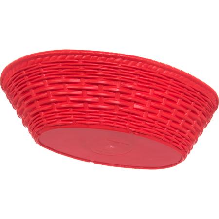 """650405 - WeaveWear™ Oval Basket 9"""" x 6"""" - Red"""