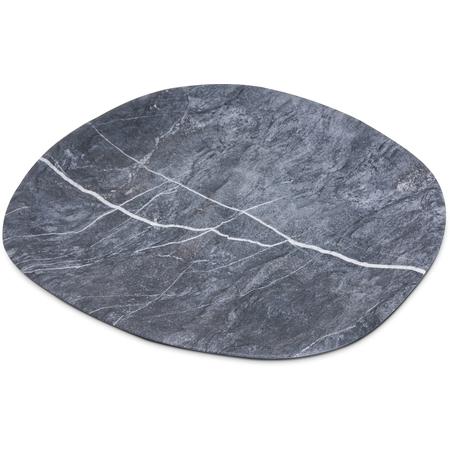 """5310372 - Ridge Melamine Oblong Platter 18"""" - Soapstone"""