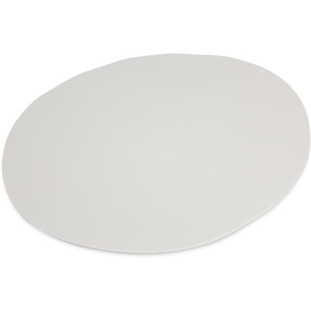 "5310523 - Ridge Melamine Rimless Plate 11"" - Cement"