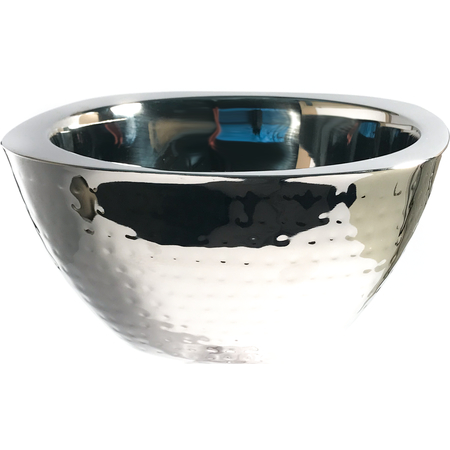 "609211 - Square Bowl w/Hammered Finish 3.5 qt, 10"" - Stainless Steel"
