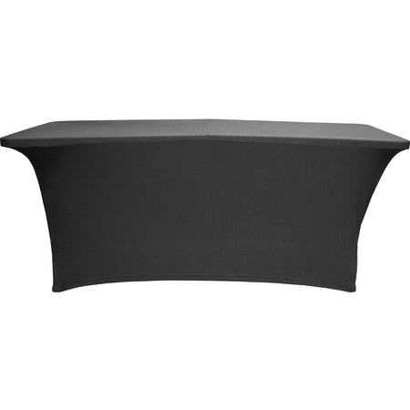 """TS72014 - Table in a Snap® Table with Budget Stretch Cover 6' x 30"""" x 30"""" - Black"""