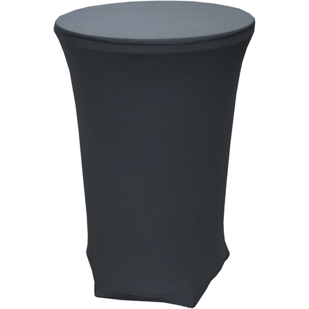 "CN420CT3042014 - Contour Contour Bar Height Table Cover 30"" x 42"" - Black"