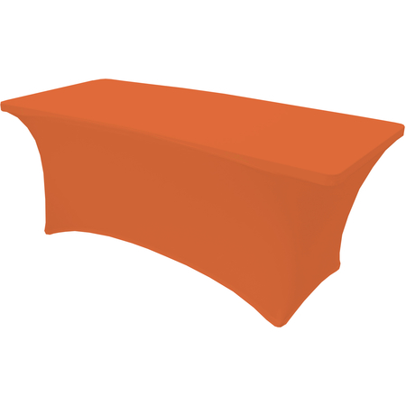 "TS72414 - Table in a Snap® Table with Budget Stretch Cover 6' x 30"" x 30"" - Orange"