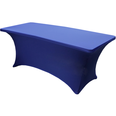 """TS72011 - Table in a Snap® Table with Budget Stretch Cover 6' x 30"""" x 30"""" - Navy"""