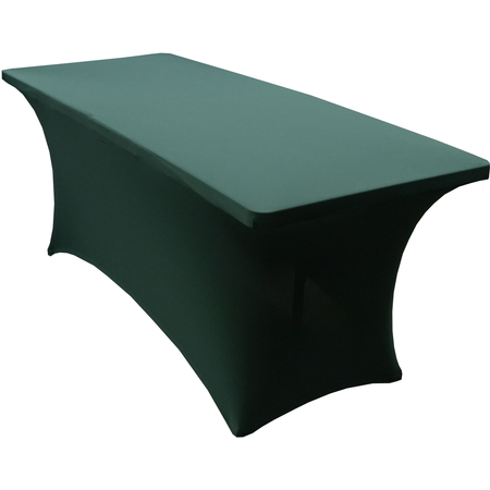 "TS72064 - Table in a Snap® Table with Budget Stretch Cover 6' x 30"" x 30"" - Forest Green"