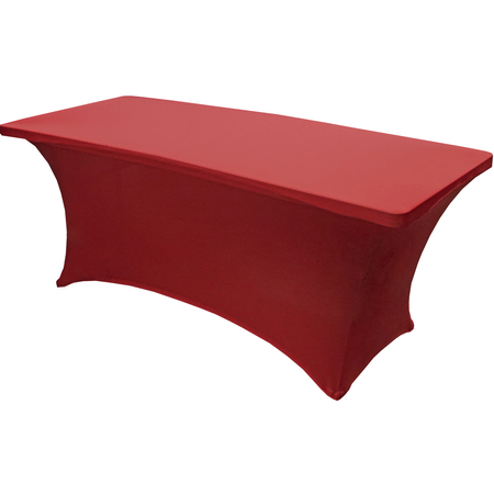 "TS72001 - Table in a Snap® Table with Budget Stretch Cover 6' x 30"" x 30"" - Red"