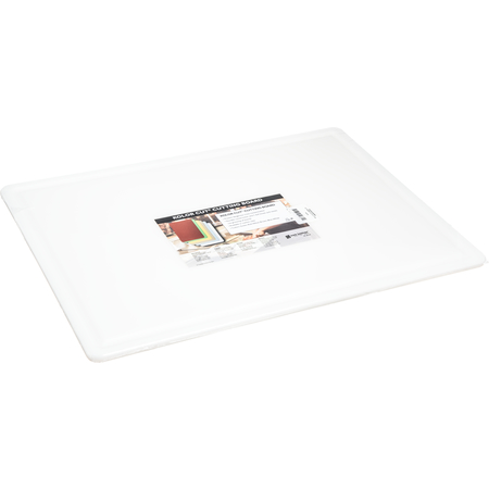 "CB182412GVWH - Grooved Cutting Board 18"" x 24"" x 0.5"" - White"