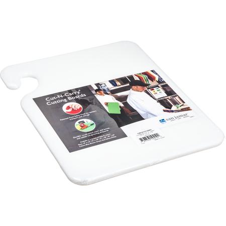 """CB101212WH - Cut-N-Carry Cutting Board 12"""" x 12"""" x 0.5"""" - White"""