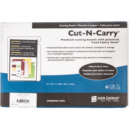 "CB1218QS - Cut-N-Carry Cutting Board 12"" x 18"" x 0.5"""
