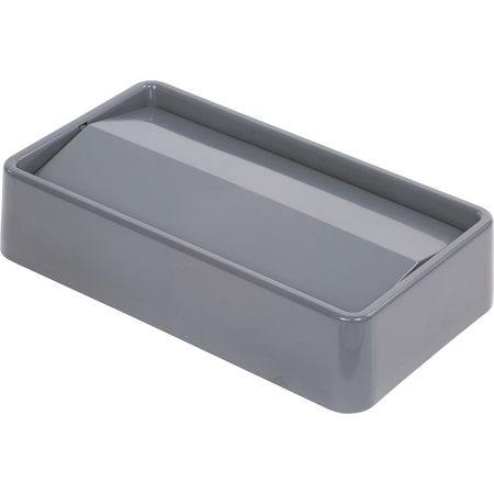 34202423 - TrimLine™ Rectangle Swing Top Waste Container Trash Can Lid 15 and 23 Gallon - Gray