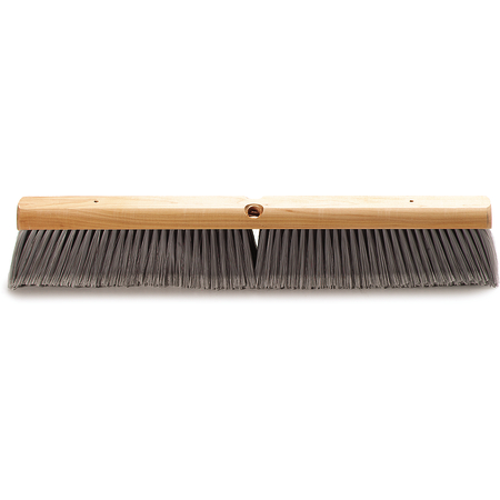 "4501423 - Flagged Bristle Hardwood Push Broom Head (Handle Sold Separately) 24"" - Gray"
