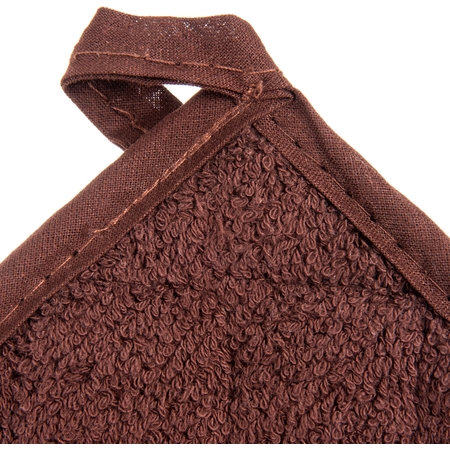 802TPH - POTHOLDER 8 IN BROWN TERRY