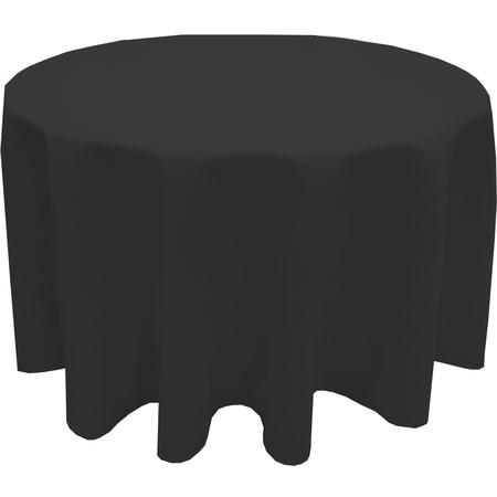 """5441AUUM014 - Market Place Linens Round Tablecloth 120"""" - Black"""