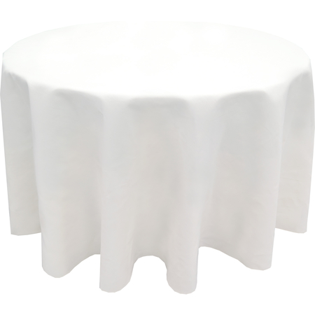 "5441BGUM010 - Market Place Linens Round Tablecloth 132"" - White"