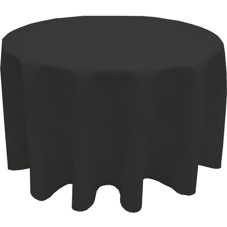 "544190RM014 - Market Place Linens Round Tablecloth 90"" - Black"
