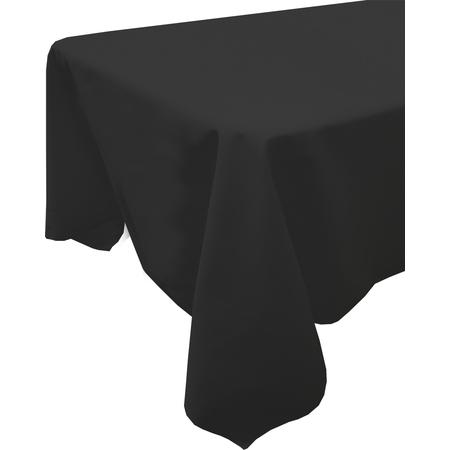 """54415252SM014 - Market Place Linens Tablecloth 52"""" x 52"""" - Black"""
