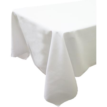 "54419090SH010 - Market Place Linens Tablecloth 90"" x 90"" - White"
