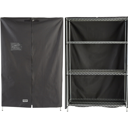 "SSC482472 - Security in a Snap® Shelf Cover 24"" x 48"" x 72"" - Black"