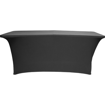 "BS830014 - Budget Stretch Table Cover 8' x 30"" x 30"" - Black"