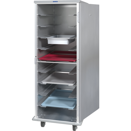 DXAL1T1D10 - Aluminum Tray Meal Delivery Cart 10 Tray - Silver