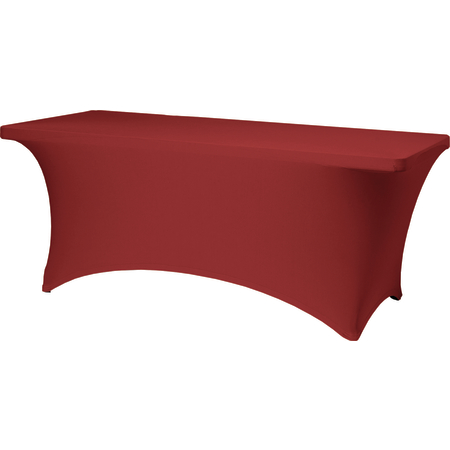 """BS630001 - Budget Stretch Table Cover 6' x 30"""" x 30"""" - Red"""