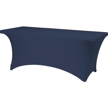 """BS630011 - Budget Stretch Table Cover 6' x 30"""" x 30"""" - Navy"""