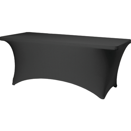 "CN420CV30830014 - Contour Contour Table Cover 8' x 30"" x 30"" - Black"