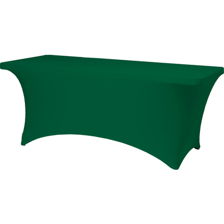 "BS630064 - Budget Stretch Table Cover 6' x 30"" x 30"" - Forest Green"