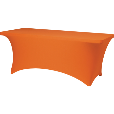 "BS630414 - Budget Stretch Table Cover 6' x 30"" x 30"" - Orange"