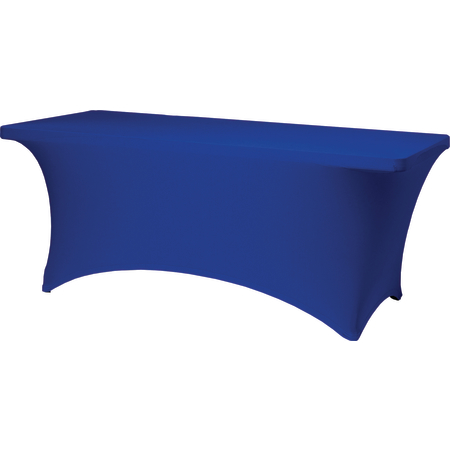 "BS630572 - Budget Stretch Table Cover 6' x 30"" x 30"" - Royal Blue"