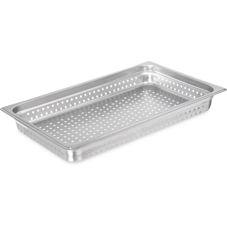 "607002P - DuraPan™ Light Gauge Stainless Steel Perforated Steam Table Hotel Pan Full-Size, 2.5"" Deep"