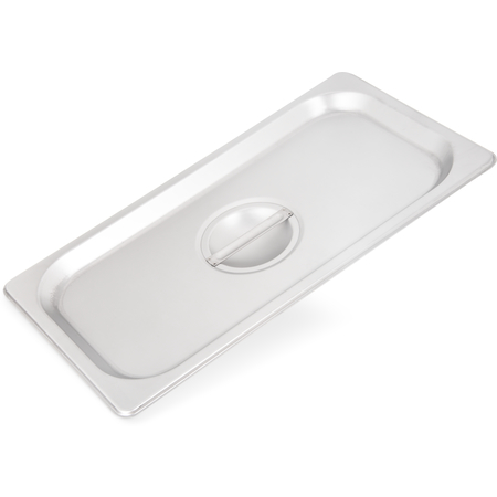 607130C - DuraPan™ Stainless Steel Steam Table Hotel Pan Handled Cover 1/3 Size