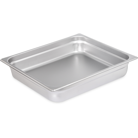 "607232 - DuraPan™ Light Gauge Stainless Steel Steam Table Hotel Pan 2/3 Size, 2.5"" Deep"
