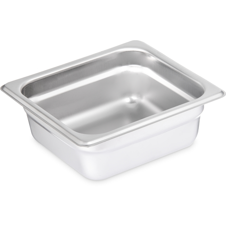 "607162 - DuraPan™ Light Gauge Stainless Steel Steam Table Hotel Pan 1/6 Size, 2.5"" Deep"