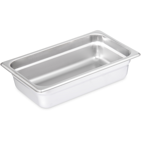 "607142 - DuraPan™ Light Gauge Stainless Steel Steam Table Hotel Pan 1/4 Size, 2.5"" Deep"