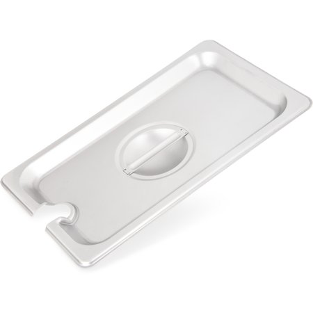 607140CS - DuraPan™ Stainless Steel Hotel Pan Slotted Handled Cover 1/4 Size