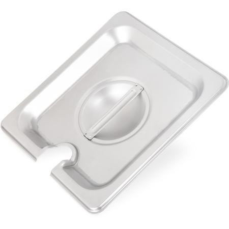607160CS - DuraPan™ Stainless Steel Hotel Pan Slotted Handled Cover 1/6 Size