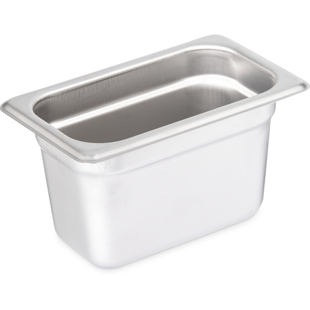 "608194 - DuraPan™ Heavy Gauge Stainless Steel Steam Table Hotel Pan 1/9 Size, 4"" Deep - Stainless Steel"