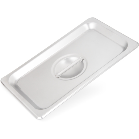 607140C - DuraPan™ Stainless Steel Steam Table Hotel Pan Handled Cover 1/4 Size