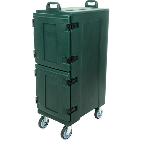 PC600N08 - Cateraide™ Insulated Front Loading Food Pan Double Carrier 10 Pan Capacity - Forest Green