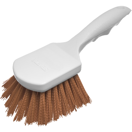 "4054125 - Sparta® Utility Scrub Brush with Polyester Bristles 8"" x 3"" - Tan"